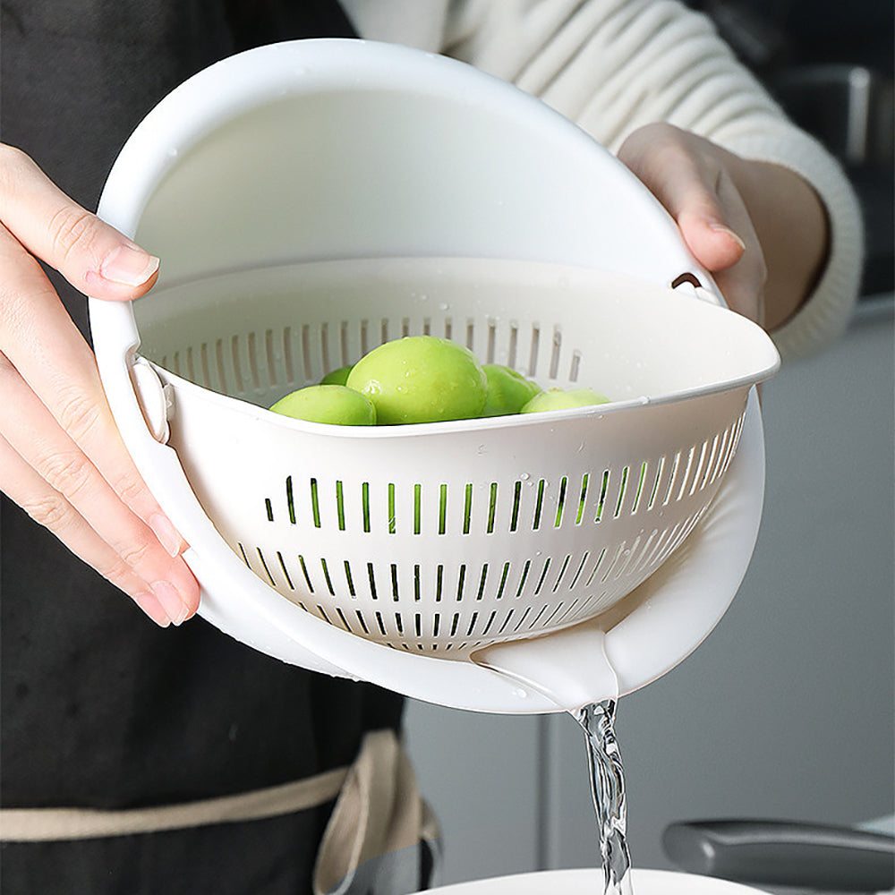 Double Drain Bowl - Wash Your Fruits With Ease!