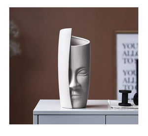 Abstract Faces Ceramic Vases