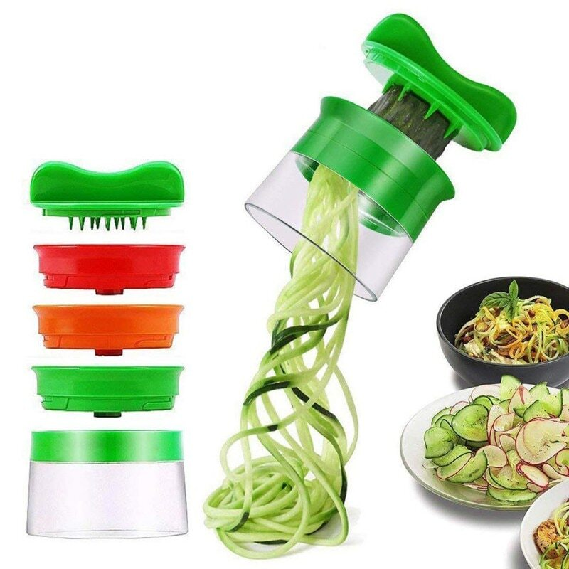 3 Blade-Hand Spiralizer - For 1 Get 2 Blades For Free + Surprise Gift For Your Kitchen