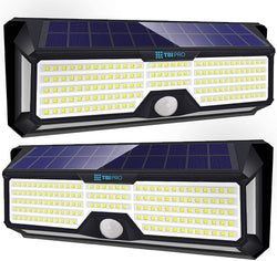 Solar Lights Outdoor Super-Bright 298 LED 2 pack