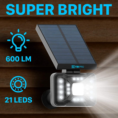 21 LED Outdoor Solar Landscape Spotlights 4-pack