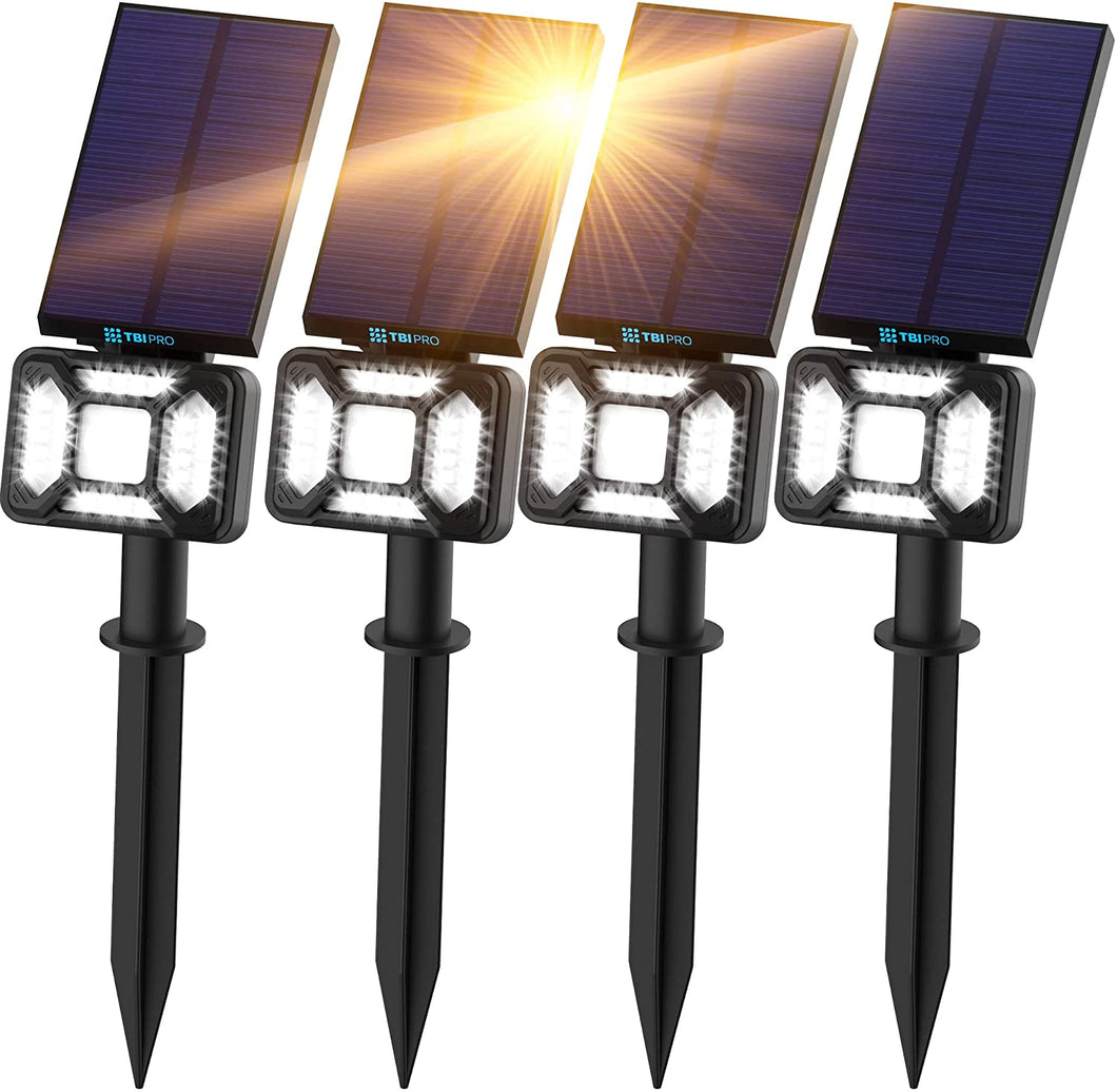 27 LED Outdoor Solar Landscape Spotlights 4-pack