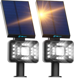 21 LED Outdoor Solar Landscape Spotlights 2-pack
