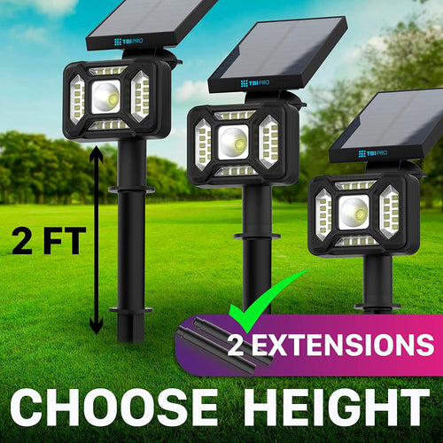 27 LED Outdoor Solar Landscape Spotlights 2-pack