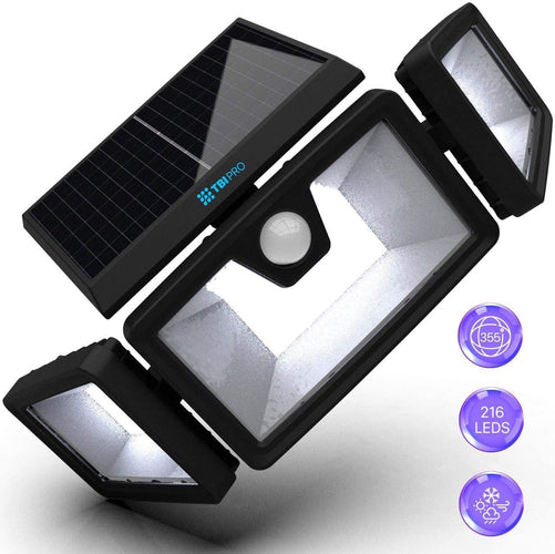 Security Solar Lights Outdoor 216 LED 1 pack