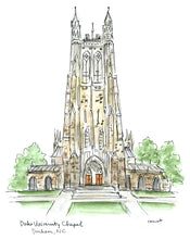 Load image into Gallery viewer, Duke University Chapel