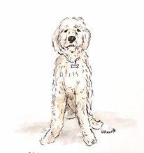 Load image into Gallery viewer, Custom Pet Portrait, Watercolor Pet Painting Custom Pet Illustration, Ink Illustration, Pet Lover Gift, Archival Quality 5x7