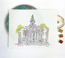 Load image into Gallery viewer, Gallery Wall Art, Personalized Coweta County Courthouse, Historic Square Downtown Newnan, Southern Landmark, Georgia, Archival Quality 8x10
