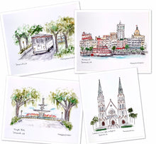 Load image into Gallery viewer, Hollis Hand School, Historic Artwork, Elementary School Portrait, LaGrange, Georgia Illustration, Landmark 8x10 print