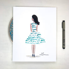 Load image into Gallery viewer, For I know the plans I have for you Scripture illustration, Jeremiah 29:11 Fashion Art Inspiring lifestyle illustration, 8x10 print