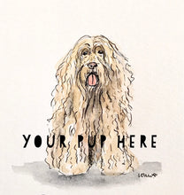 Load image into Gallery viewer, Custom Pup Portrait, Pet Drawing, Ink Illustration, Pet Lover Gift, Archival Quality 5x7