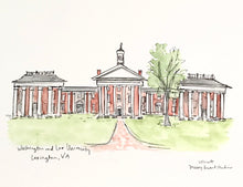 Load image into Gallery viewer, Washington and Lee University Illustration, Graduation Gift, Archival Quality 8x10 print