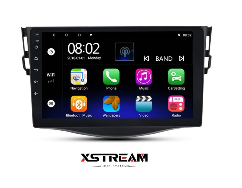 "9"" Toyota Rav4 2007-2014 4G LTE Android 10 QUAD CORE - Xstream audio systems"