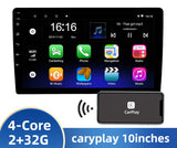 "NEW 10"" UNIVERSAL DOUBLE DIN RADIO WITH WIRELESS APPLE CARPLAY+DSP 2G/32G - Xstream audio systems"
