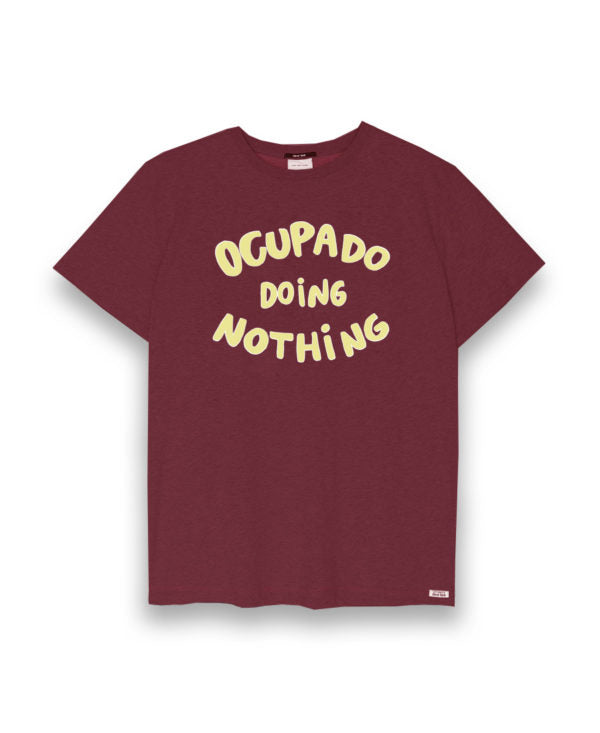 Camiseta OCUPADO DOING NOTHING
