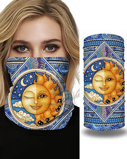 Print Breathable Face Bandana Magic Scarf Headwrap Balaclava