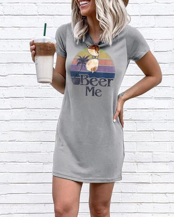 Beer Me T-Shirt Mini Dress