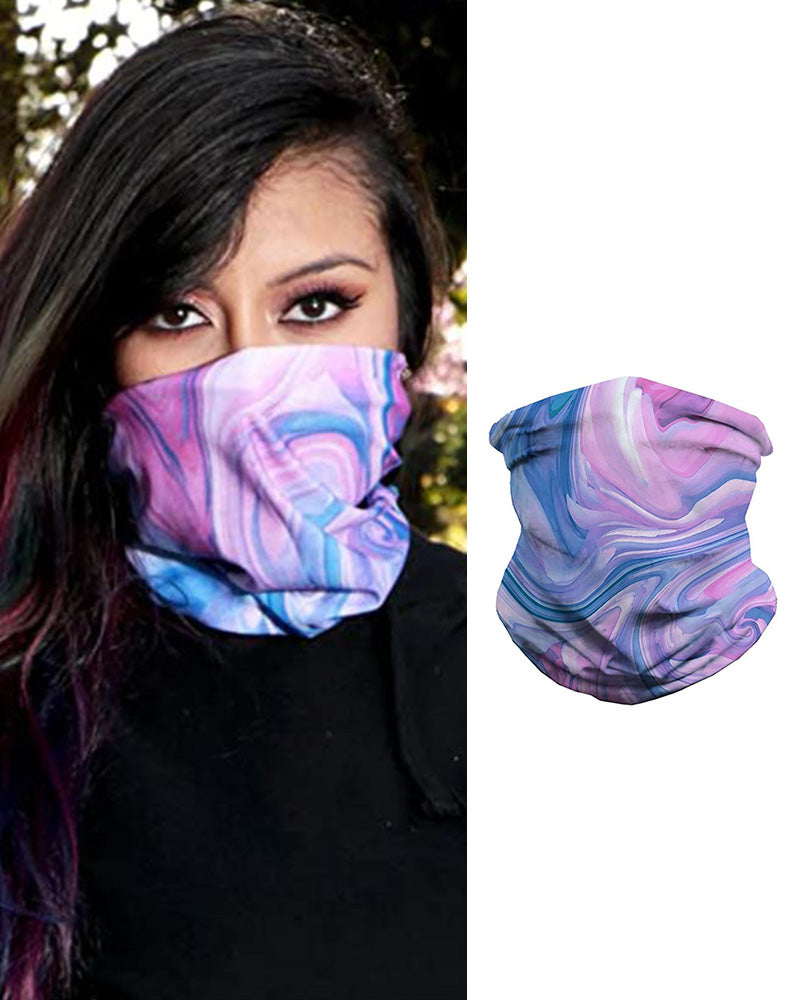 Watercolor Print Breathable Face Bandana Magic Scarf Headwrap Balaclava