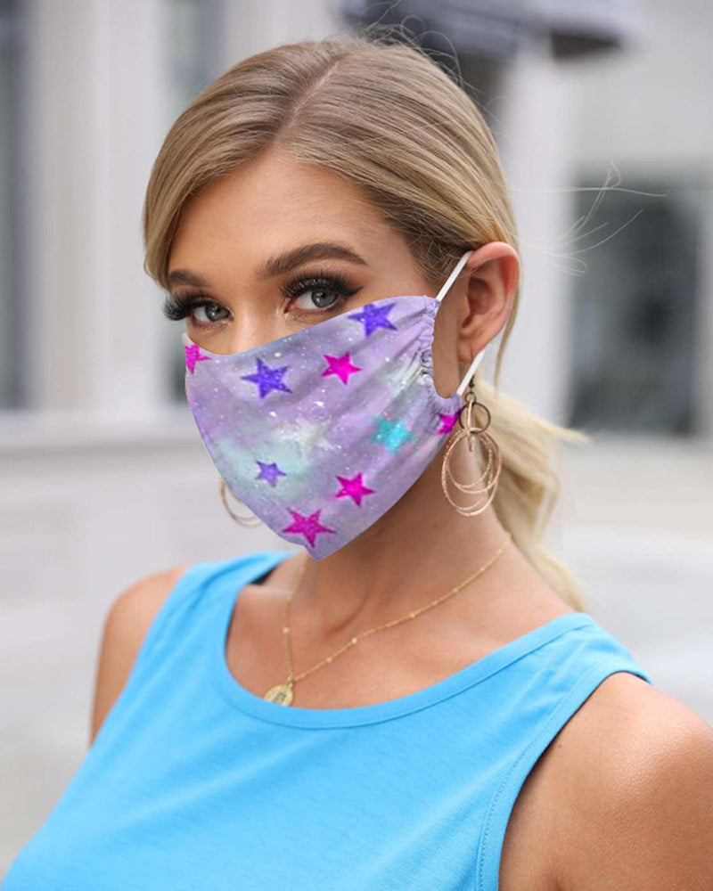 Star Print Breathable Mouth Mask Washable And Reusable