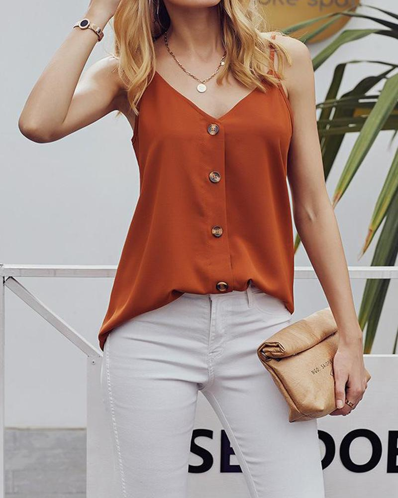 Sleeveless Thin Strap Halter Tops