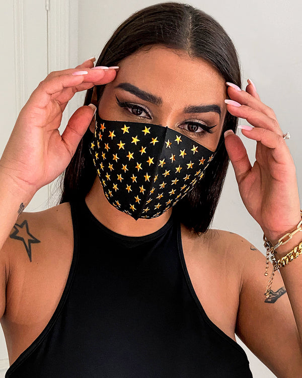 Stars Pattern Breathable Ear Loop Mouth Mask Reusable