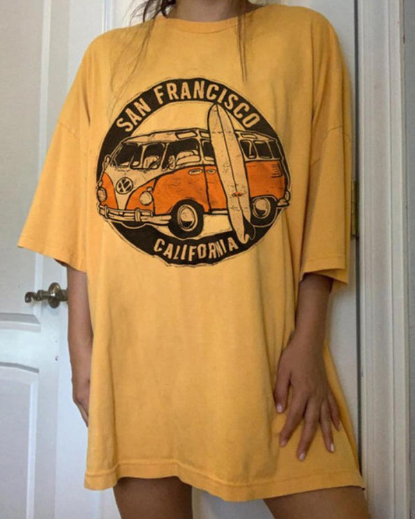 California Print Tunic T-Shirt