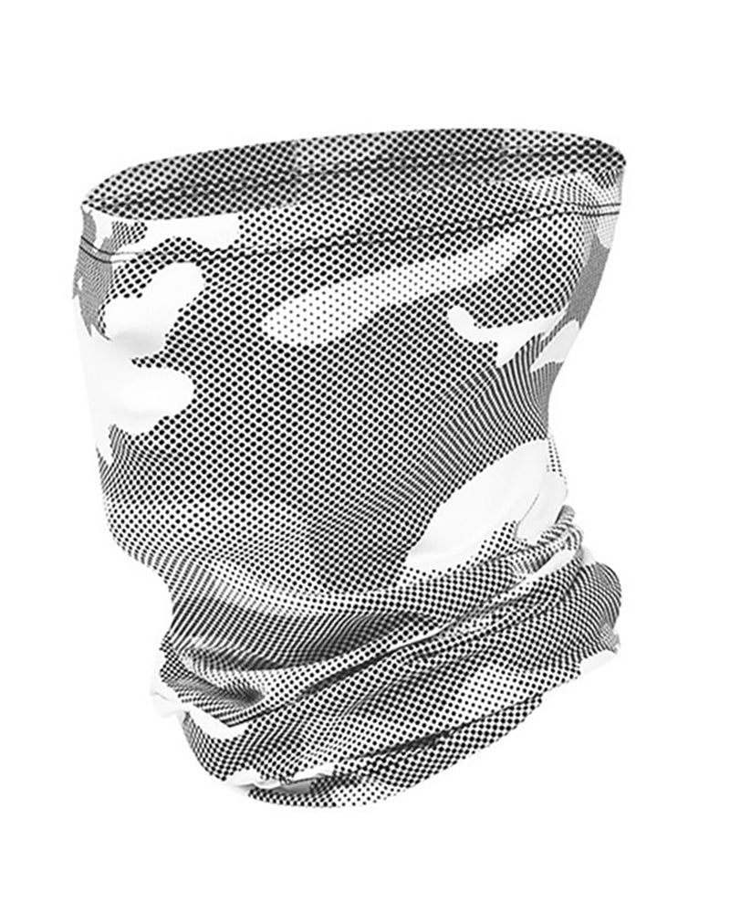 Camouflage Print Breathable Face Bandana Headwrap