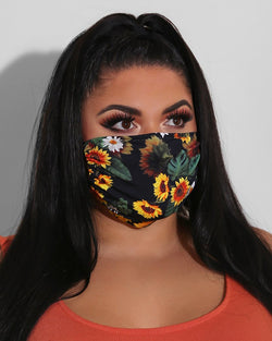 Floral Print Breathable Mouth Mask Washable And Reusable