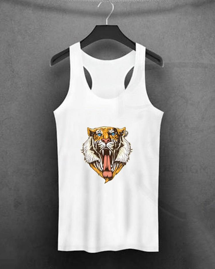 Casual Fashion Tiger Print Tank