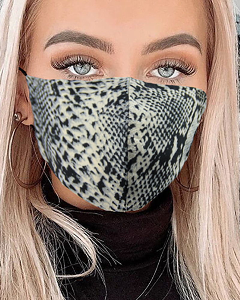 Snakeskin Breathable Mouth Mask Washable And Reusable