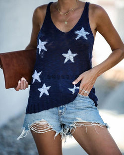 Star Print Cami Top