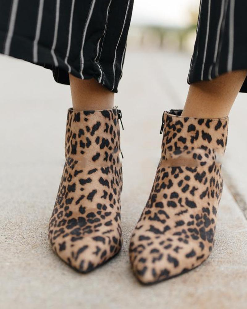 Heeled Casual Ankle Booties