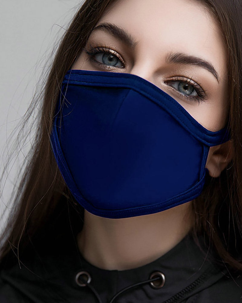 Solid Breathing Washable Face Mask (1 filters as gift)