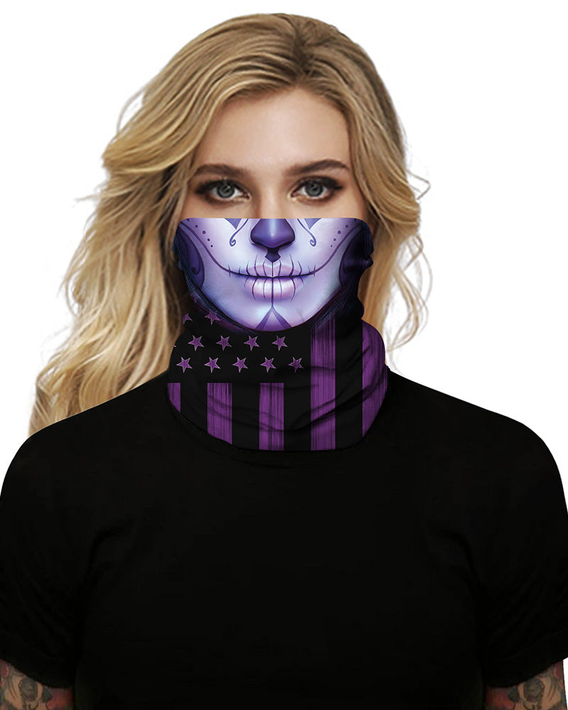 Face Flag Print Breathable Face Bandana Magic Scarf Headwrap Balaclava