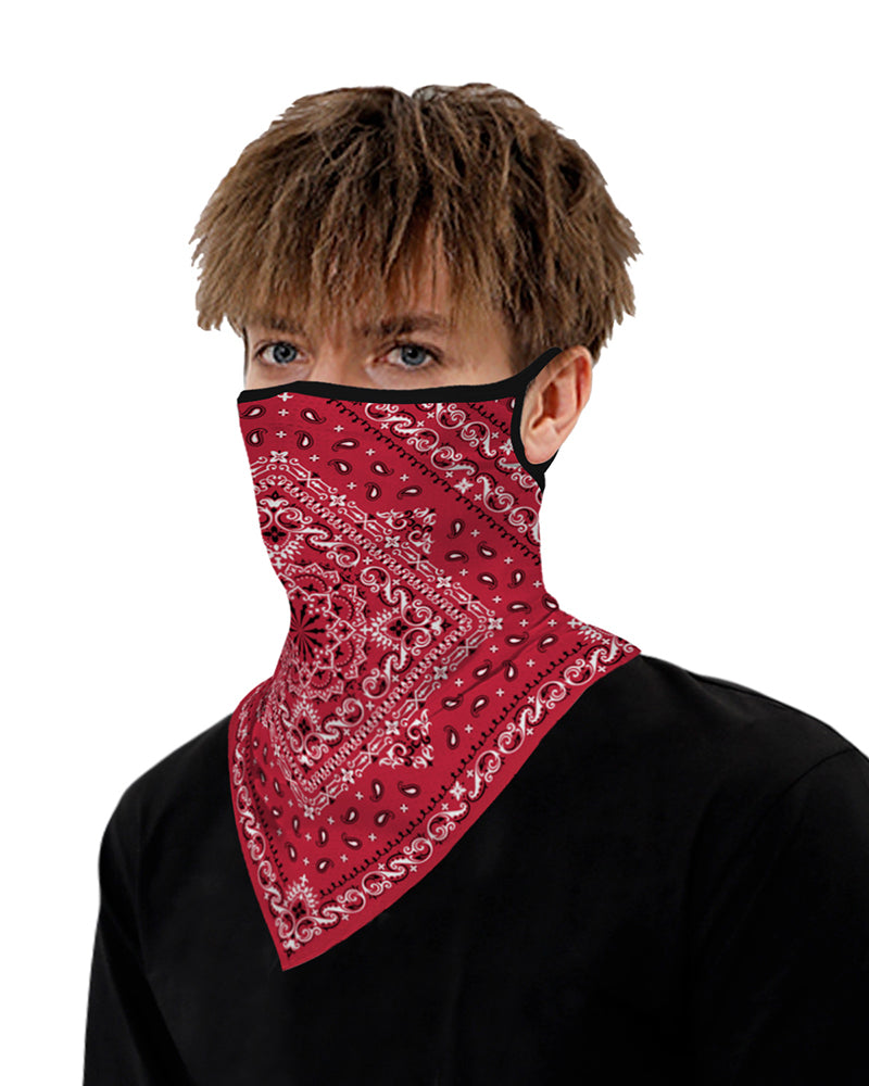 Print Breathable Ear Loop Face Cover Bandana Windproof Dust Outdoors
