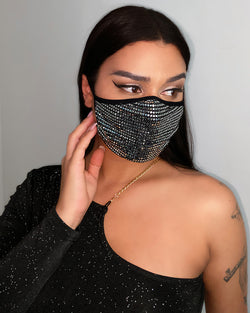 Sequins Glitter Breathable Ear Loop Mouth Mask Reusable