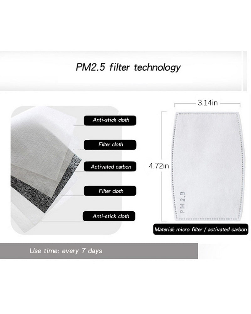 Print Breathing Washable Valve Face Mask (2 filters as gift)