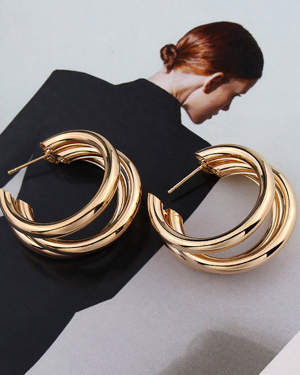 Open Metal Simple Cuff Hoop Earring