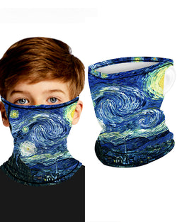 Print Breathable Ear Loop Face Bandana Headwrap For Children