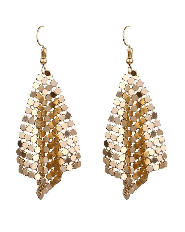 Geometry Pattern Studded Dangle Drop Earring