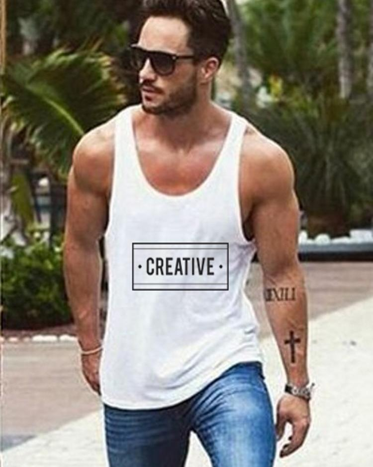 Casual Fashion Slogans Print Tank