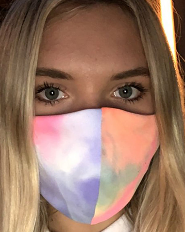 Tie Dye Leopard Print Breathable Mouth Mask Washable And Reusable