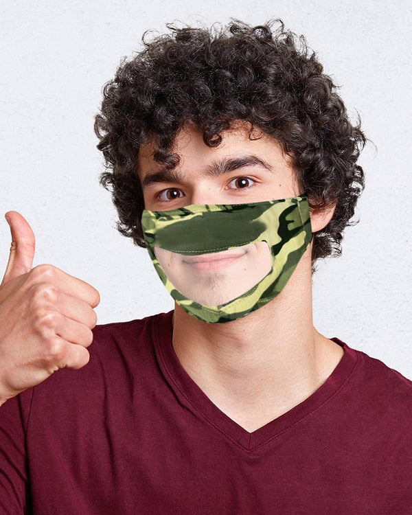 Breathable Face Mask With Clear Window Visible Expression Lip Reading