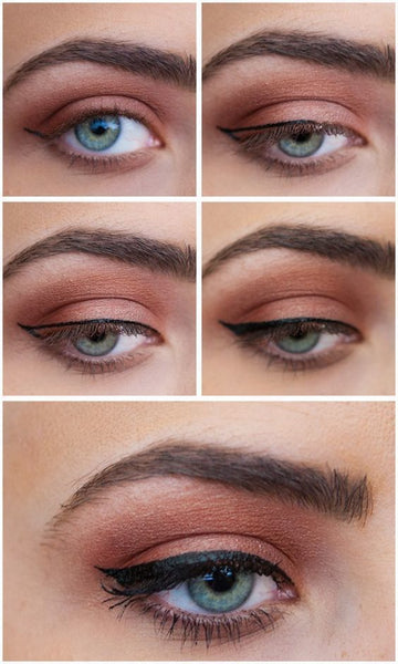 5 step to apply liquid eyeliner