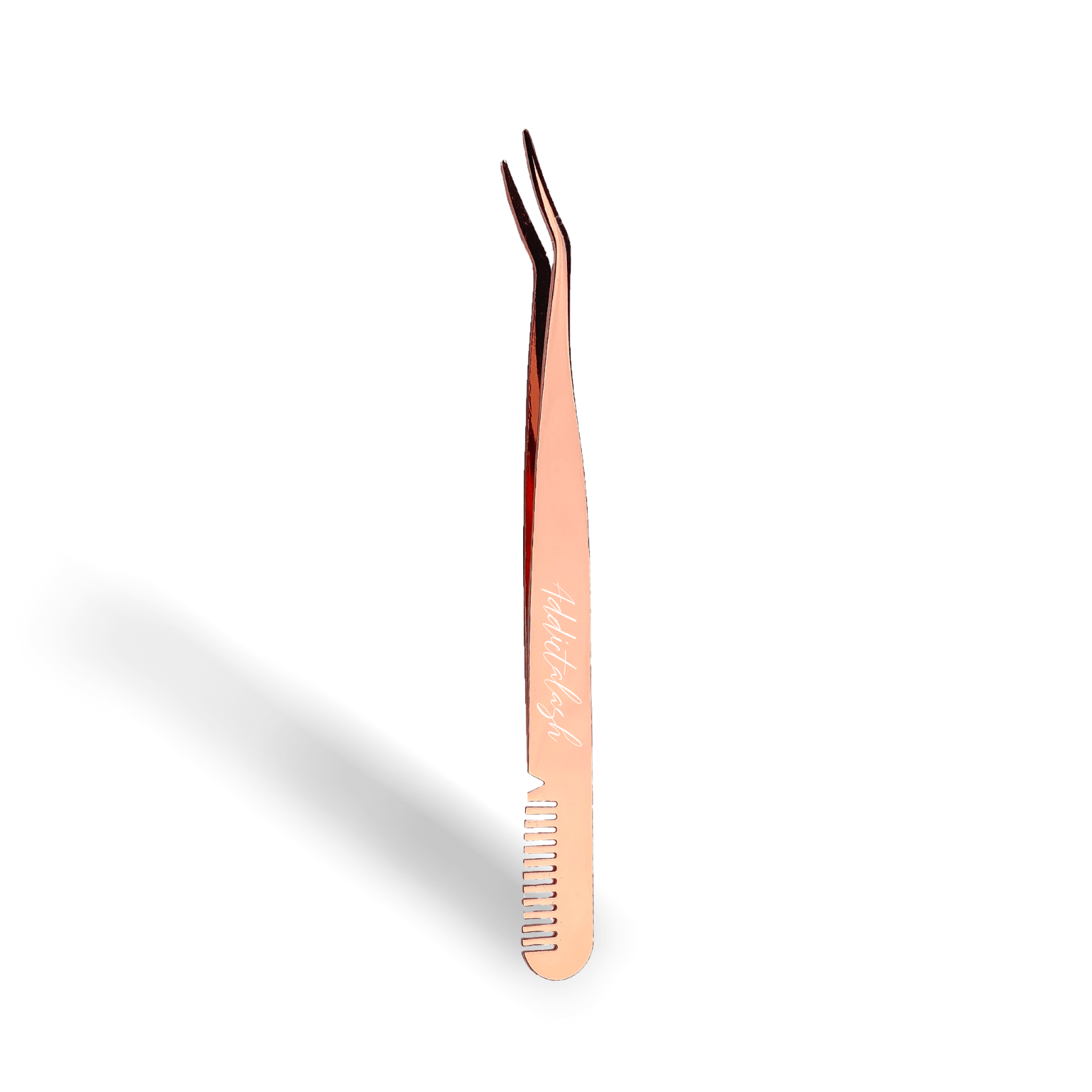 Lash applicator tweezer rose gold comb