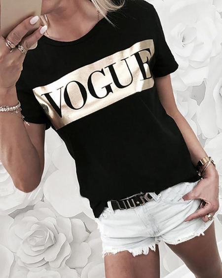 Short Sleeve Vogue T-Shirt