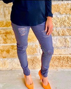 Grey Distressed Jeans