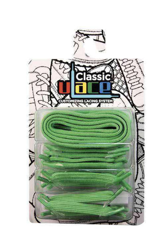 U-lace In-Line Neon Green shoe laces