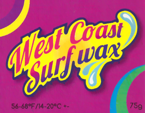West coast cool water surf wax