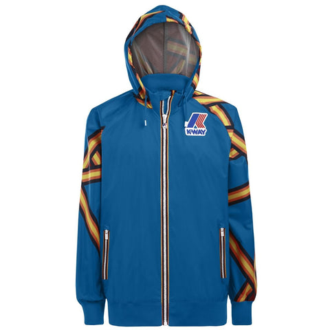 K-WAY Remix Dale Graphic jacket - blue A - all over tape